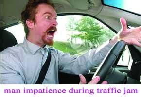 Impatience man